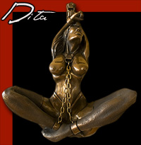 Dita a Leigh Heppell Bondage and Chains Suspension Restraint Sculpture Erotic